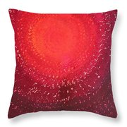 Native Sun Original Painting Throw Pillow