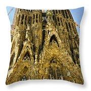Nativity Facade - Sagrada Familia Throw Pillow