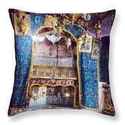 Nativity Grotto 1950 Throw Pillow