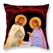 Nativity Night Throw Pillow