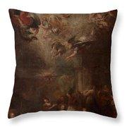 Nativity Of Mary Throw Pillow by Andrea Celesti