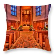 Nativity Of Our Lord Church Throw Pillow