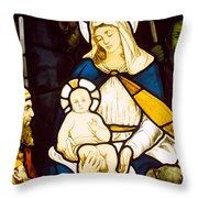Nativity Throw Pillow by Robert Anning Bell