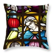 Nativity Window Throw Pillow