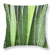 Natural Abstract Autumn Rain Throw Pillow