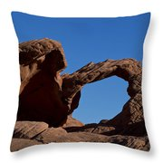 Natural Arch Valley Of Fire State Park Nevada Throw Pillow