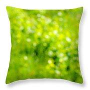 Natural Bokeh Throw Pillow
