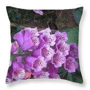 Natural Bouquet Bunch Of Spiritul Purple Flowers Throw Pillow