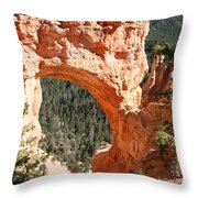 Natural Bridge  Bryce Canyon Throw Pillow