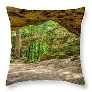 Natural Bridge Cave Throw Pillow