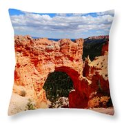 Natural Bridge In Bryce Canyon National Park Throw Pillow