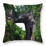 Natural Bridge In Rockbridge County Virginia Throw Pillow