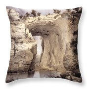 Natural Bridge, Rockbridge County Throw Pillow