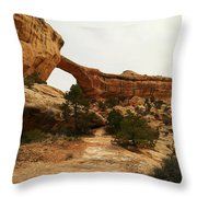 Natural Bridge Southern Utah Throw Pillow by Jeff Swan