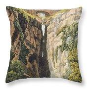 Natural Bridge, Valle Dicononzo Throw Pillow
