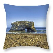Natural Bridges And Lovers Throw Pillow