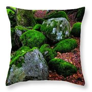 Natural Emeralds. Wicklow. Ireland Throw Pillow