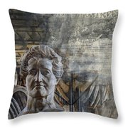 Natural History Meets The Press Throw Pillow