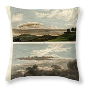 Natural History Of The Clouds Throw Pillow