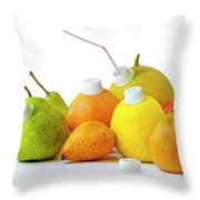 Natural Juice Throw Pillow by Carlos Caetano