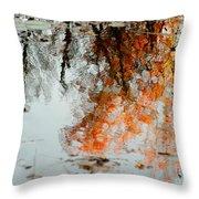 Natural Paint Daubs Throw Pillow