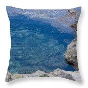 Natural Pool Of Seawater Throw Pillow