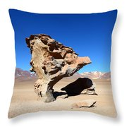 Natural Rock Sculpture Throw Pillow