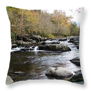 Skull Rock Formation Throw Pillow by Ella Char