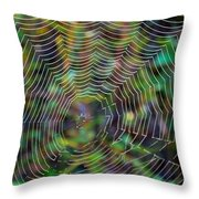 Natural Stained Glass Throw Pillow