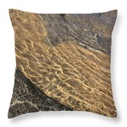 Nature Abstract - Clear Lake Tahoe Water  Throw Pillow
