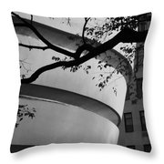 Nature And Architecture In Black And White Throw Pillow