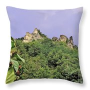 Nature And Medieval Ruins Throw Pillow
