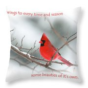 Nature Brings Throw Pillow