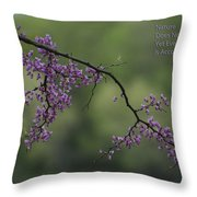Nature Does Not Hurry Blossoms In Purple Throw Pillow