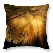 Nature Does Not Hurry Follow The Light Throw Pillow