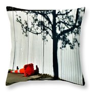 Nature Goes Tagging  Throw Pillow