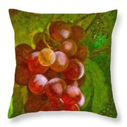 Nature Goodness Grapes On The Vine Throw Pillow