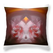 Nature In Abstract Camellia Throw Pillow