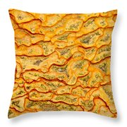 Nature Pattern Iron Oxide Mineral Sediment Crust Throw Pillow