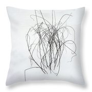 Nature Scribbles Throw Pillow