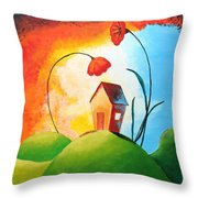 Nature Spills Colour On My House Throw Pillow by Nirdesha Munasinghe