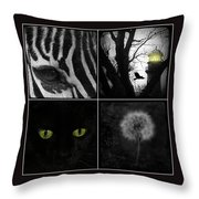 Nature Squares - Collage Throw Pillow