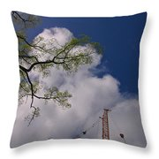 Nature Vs Industry  Throw Pillow