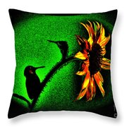 Nature Went On Although The Moon Turned Green Throw Pillow