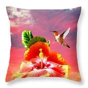 Nature's Beauties Throw Pillow