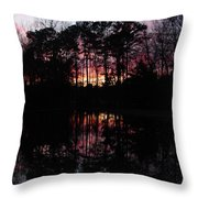 Natures Canvas Throw Pillow by Ella Char