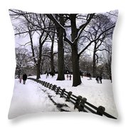 Nature's Canvas On A Wintry Day Throw Pillow