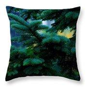 Nature's Christmas Tree Throw Pillow