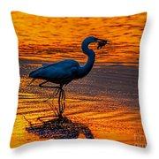 Natures Fisherman Throw Pillow