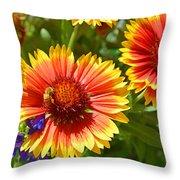 Nature's Friends Throw Pillow